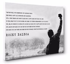 Rocky Balboa Inspirational Quote Canvas Wall Art Print Size A1 (51 x 76 cm)
