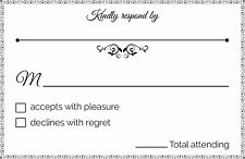 Jot & Mark RSVP Postcards for Weddings, Parties, Receptions, 50 cards per pack