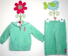 Authentic Juicy Couture Baby Girls' Size 12 months Terry Green Mint Jogging Set