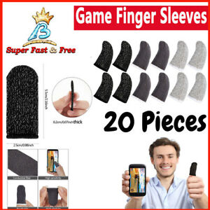 20X Screen PUBG Gaming Finger Sleeve Game Controller Mobile Sweatproof Gloves!!!