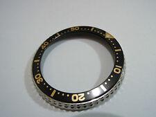 NEW SEIKO BEZEL WITH BLACK/GOLD INSERT FOR SEIKO MEN'S DIVER'S 6309 /6306 /7002