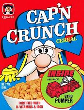 Capn Crunch Cereal Vintage High Quality Metal Magnet 3 x 4 inches 9446