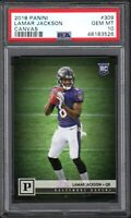 2018 Panini #309 LAMAR JACKSON Canvas PSA 10 Gem Mint