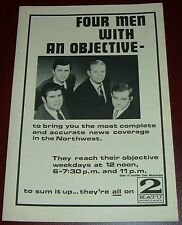1969 KATU TV NEWS AD~PORTLAND,OREGON~TED KNIGHT~FOUR MEN WITH AN OBJECTIVE