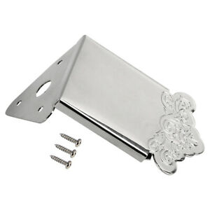 Mandolin Tailpiece for Mandolin Replacement Parts With Cover Chrome Plated