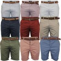 mens chino shorts Threadbare cotton oxford Stallion belted Seven Series summer