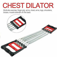 CHEST EXPANDER ADJUSTABLE SPRING EXERCISE Workout w/ Removable Springs Fitness