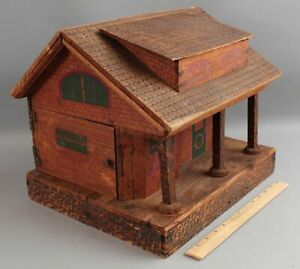 Small Antique Early 20thC German Lithographed Wood Dollhouse Doll Toy No Reserve