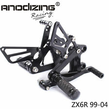 Rearset Rear Set Footrest Peg Pedal Fit For Kawasaki Ninja ZX6R 99-04