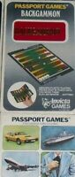 GIOCO TASCABILE POCKET BOARD GAME VINTAGE 1973-PASSPORT INVICTA GAMES,BACKGAMMON