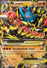 Pokemon Karte M Lucario EX, Fliegende Fäuste, 55/111
