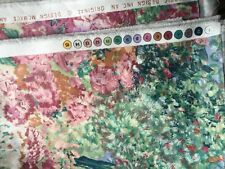 Watercolor Print Upholstery Fabric