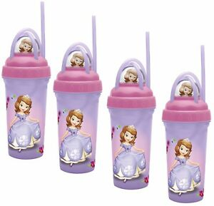 Zak Designs Disney's Sofia The First Loopity Loop Tumbler, 11oz - Pack of 4