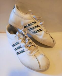 ADIDAS COURT SET white Leather ladies Trainers SIZE UK 6.5