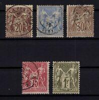 B137281/ FRANCE – SAGE TYPE – Y&T # 67 - 68 - 69 - 71 - 72 USED – CV 170 $