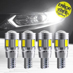 T10 501 W5W LED Light Car Interior Trunk Marker Lamp Canbus 6SMD White 12V