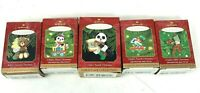 Hallmark Keepsake Ornament Childs Age Collection Lot of 5 2nd-5th 97, 99, 00, 01