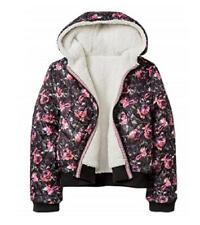 Xhilaration Girls' Quilted Reversible Sherpa Printed Jacket - Size Small