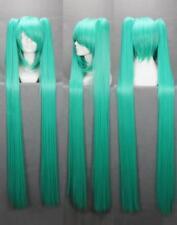 Vocaloid Hatsune Miku Onion Green Double Pony COS Wig Super Long Straight L54#