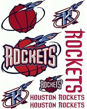 Houston Rockets Scrapbooking Craft Sticker Sheet Set #1