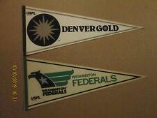 USFL Denver Gold & Washington Federals Vintage Defunct Circa 1980's Pennants