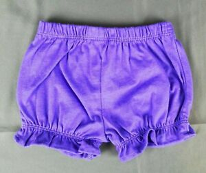 Carter's Girls Infant Baby 9 Months Shorts Purple Elastic Waist & Legs 9m