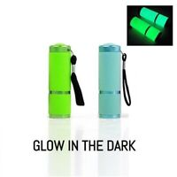Portable Compact  Pack of 2 COB LED Glow In The Dark Pocket Torch Security AU