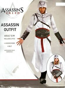 Assassins Creed 2 Pc Assassin Outfit Halloween Costume Cosplay Adult S/M