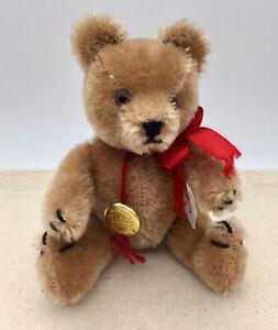 "Vintage ~ 5"" HERMANN TEDDY ORIGINAL BEAR ~ with Original Gold Tag"