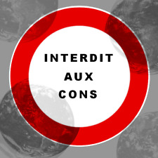 INTERDIT AUX CONS HUMOUR  AUTOCOLLANT STICKER DECALS STICKERS