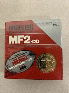 "Maxwell MF2DD 3.5"" Micro Floppy Disks 10 Pack double Density/Double Sided NOS"