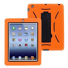 Orange Hybrid Case Rugged Shockproof Full Cover Body Skin For Apple iPad 2 3 4