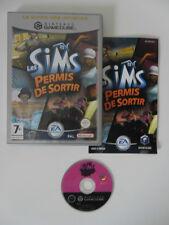 LES SIMS PERMIS DE SORTIR - NINTENDO GAMECUBE - JEU GAME CUBE COMPLET