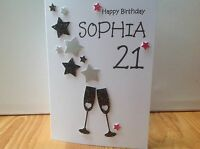Handmade male/female birthday card - Any age 18th,21st, 30th etc...personalised!