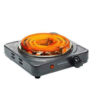 Electric Coil Hot Plate Portable Charcoal Burner  Cooker Hotplate 1500W Grey