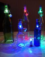 LED Korken Tischlampe Flaschenbeleuchtung Cork USB Akku Bottle Light licht GRüN