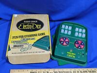 Rare Gambling Toy VTG RADIO SHACK ELECTRO-DICE BATTERY OP DICE SPINNING GAME IN