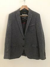 SUPERDRY Size 5 Wool Tweed Style Houndstooth Blazer Jacket TIMOTHY EVEREST