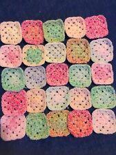 Crochet granny squares x 25