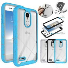 For LG Phoenix 4/Fortune 2/Aristo 3 Plus/Tribute Empire Clear Bumper Case Cover