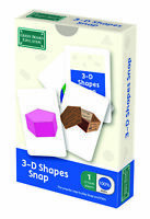 3D Shapes Snap and Pairs Card Game - Educational Game for Children 5+ Years