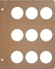 Dansco Coin Album 1 Blank Page 42mm For Large Ancient Coins Medals Free Shipping