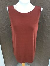 New Rare Chico's Travelers Rich Mahogany Reversible Tank Top 2 L Large 12 14 NWT