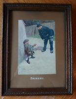 Antique BRIBERY by Lawson Wood Mounted & Framed Print Wall Art Police Child