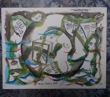 "Raul Camilo de la Vega Diaz. ""Tempestad"".Acrylique sur carton signée, datée 2005"