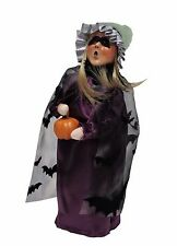 Byers Choice Halloween Witch Girl MINT Store Stock '16 Purple Gown Bats LAST ONE