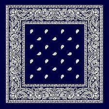 Super Taille XL bleu marine Bandana cachemire 68.6CM Coton enveloppant écharpe A