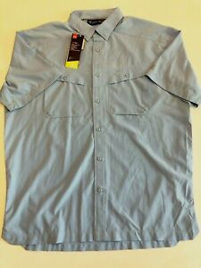 Under Armour New Tide Chaser 2.0 Short Sleeve Fishing Shirt Men's Large Blue