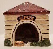 HTF 1995 Block China Country Village Rover Dog House Doghouse Sugar Bowl & Lid