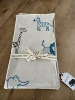 NEW Made In India Baby Boy Zoo Animals 100% Cotton Blanket